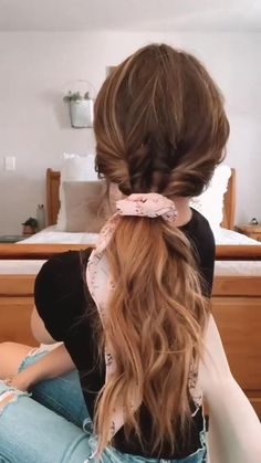 Work Hairstyles, Pretty Hairstyles, Easy Teen Hairstyles, Curled Ponytail Hairstyles, Twisted Ponytail, Blonde Ponytail, Blonde Hairstyles, Summer Hairstyles, Braided Hairstyles