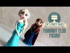 Frozen Elsa cake How to make elsa doll cake disney frozen elsa cake topper tutorial fondant elsa