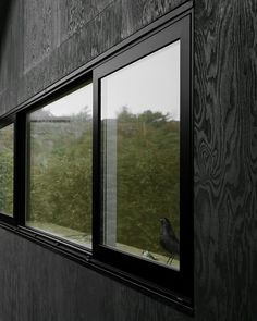 Plywood facade coated in black pine tar - House Morran - Johannes Norlander Arkitektur Plywood House, Plywood Walls, Plywood Furniture, Modern Furniture, Furniture Design, Contemporary Architecture, Architecture Design, Plywood Interior, Architectural Section