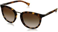 266e73a42c2a Polo Ralph Lauren Womens 0RA5207 Round Sunglasses Dark Tortoise Tortoise 52  mm     For