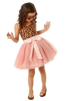 Leopard and a tutu? Two favorites together | Ooh! La, La! Couture Resort Leopard/Blush Tie Bow Dress | #kidstylin