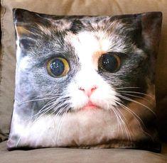 Cat pillow cover, Cat cushion, Home decor, Home Decor Pillow, Decorative pillows, Throw, Toss pillow, Cat pillow, 3D animal pillow