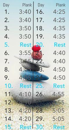 Advanced 30 day plank challenge.