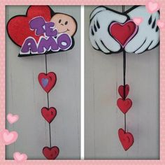 ❤️Regalos Para El Día Del Amor Y Amistad❤️ Apliques de pared. #Apliquesdepared #SanValentín #DíadeSanValentín #Cumpleaños #Regalos #Mesdelamoryamistad Felt Crafts, Diy And Crafts, Arts And Crafts, Valentine Baskets, Baby Shower Souvenirs, Valentine Decorations, Boyfriend Gifts, Projects To Try, Romans