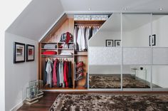 fitted sliding wardrobe doors in silver damask silver mirror Attic Wardrobe, Sliding Wardrobe Doors, Built In Wardrobe, Closet Doors, Sliding Doors, Modern Wardrobe, Loft Room, Bedroom Loft, Sliding Cupboard