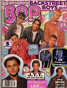BOP. I wasted so much money on these damn things. Every penny of my allowance went here, Tiger Beat and BB, for....like 4 years, haha.