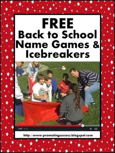 FREE Back to School Name Games, Icebreakers, and More! This is a great blog featuring many free activities all year long!
