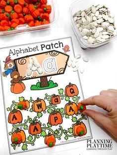 Visit the Pumpkin Patch and match all the Letter Pumpkins. Pumpkin Worksheets Preschool