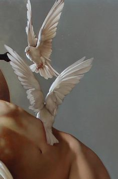 "roberto ferri: ""il canto della vergine (the song of the virgin)"" (detail), oil on canvas, 2015"