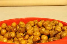Craving Popcorn? Try this low carb snack instead! Toasted Chickpeas