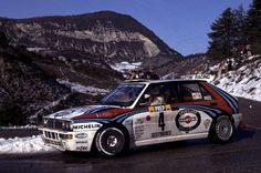 Didier Auriol in his Lancia Delta