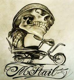 Evil Skull Tattoo, Skull Tattoos, Body Art Tattoos, Chicanas Tattoo, Grey Tattoo, Graffiti Tattoo, Graffiti Art, Bugs Bunny Drawing, Dream Catcher Drawing
