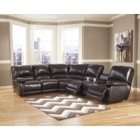 Capote DuraBlend® - Chocolate 4 Pc. Reclining Leather Sectional