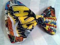 www.dapperadornments.etsy.com. Handmade comic-themed bow tie. EPiC Arts Festival.