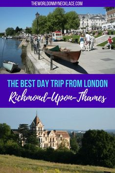 A quaint village on the river Thames with old fashioned pubs and grand old houses, London's largest park and numerous walking trails: Richmond has it all. Richmond London, Richmond Upon Thames, Europe Travel Tips, Travel Destinations, Travel Articles, Day Trips From London, Royal Park, English Village, Travel Inspiration