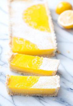 Meyer Lemon Macadamia Nut Tart #dessert #recipes