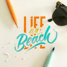 Hand Lettering works  with Bic Visaquarelle and Pentel Zebra Touch