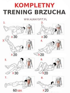 Kompletny Trening Brzucha - Full Sixpack Training Plan Health Ab - Yeah We Workout ! Best Workout Plan, Six Pack Abs Workout, Abs Workout For Women, At Home Workout Plan, Fun Workouts, At Home Workouts, Sixpack Training, Corps Parfait, Best Abdominal Exercises