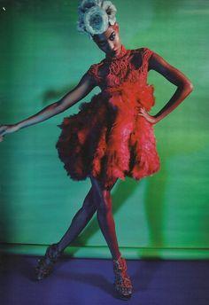 alexander mcqueen s/s 2012 rtw, joan smalls by mario sorrenti for w magazine