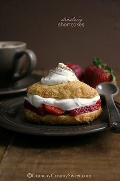 Strawberry Shortcakes from @Anna @ Crunchy Creamy Sweet