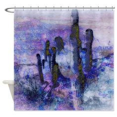 Looking for the ideal Gifts? Custom Shower Curtains, Fabric Shower Curtains, Pastel Purple, Cacti, Interior Decorating, Colors, Artwork, Gifts, House