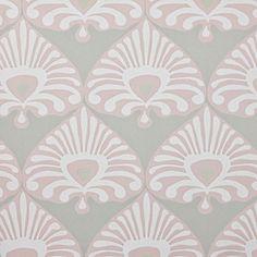 Palmetto Wallpaper – Stone/Blush | Serena & Lily