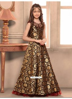 f27b85c5c ... Dresses Gownas For Girls and Kids At Low Price From India. Board owner.  Follow. Blooming Taffeta Jacquard Indo-Western Dress Model  YOG322 Long  Frocks ...