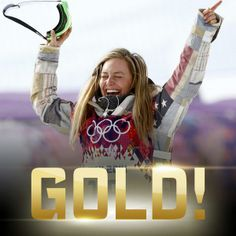 The first women to ever win Olympic Gold medal in snowboarder slopestyle is Jamie Anderson!!