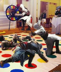 Haha this is how assassin's play twister