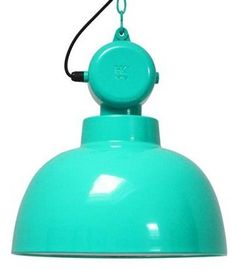"HK-living hanglamp aqua groen metaal Ø40x45cm, industriële lamp ""Factory"" M"