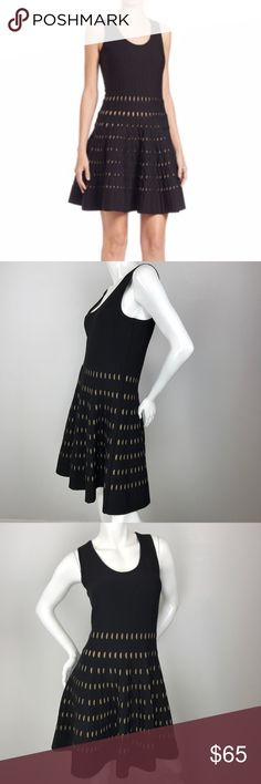 MICHAEL MICHAEL KORS Pointelle-Knit Tank Dress Pointelle-knit ponte dress in flirty design features scoopneck, sleeveless, fit-&-flare shape, and pullover style. Viscose/nylon/spandex. MICHAEL Michael Kors Dresses Midi
