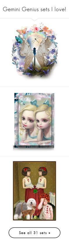 """Gemini Genius sets I love!"" by craftygeminicreation ❤ liked on Polyvore featuring art, artflashmob, 10060sage, candy, fashionsmashion, gemini, just, quote, expression and dolls"
