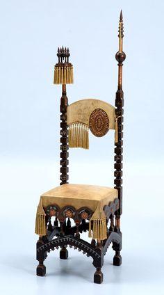 Outstanding Circa 1900 Carlo Bugatti Asymetric Chair