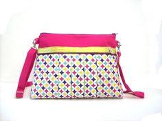 sac bandouliere multicolore a motifs geometriques par tchaiwalla