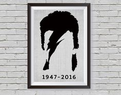 DAVID BOWIE - Minimalist Poster Art, David Bowie art, David Bowie print, David Bowie memorial poster, memorial art, Famous Singer Poster by InspiredLifeArt on Etsy