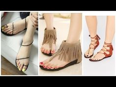 6b799cc59e1 Beautiful casual flat sandal collections for girls 2017-2018