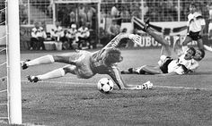HOLLAND, THE BOSSES OF GERMANY (AT THE EUROS, ANYWAY): Marco van Basten, tessellating with Jurgen Kohler, scores the late winner in Holland's famous win over West Germany at Euro 88.