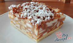 Vídeňský jablečný koláč High Sugar, Culinary Arts, Tiramisu, Yummy Treats, Biscotti, Naan, Waffles, Dessert Recipes, Apple