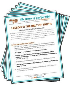 Free Armor of God Bible Lessons for Kids Family Bible Study, Bible Study For Kids, Kids Bible Studies, Preschool Bible, Bible Activities, Learning Activities, Toddler Learning, Armor Of God Lesson, Toddler Bible Lessons