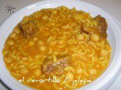 BIENVENIDOS A ESTE REVORTILLO: RANCHO CANARIO Spanish Kitchen, Spanish Cuisine, Spanish Food, Chana Masala, Pasta, Vegetables, Cooking, Ethnic Recipes, Blog