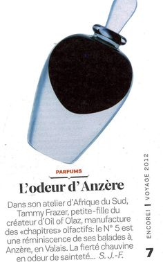 Now there is a perfume capturing the olfactive essence of Anzere Oil Of Olaz, Meat And Cheese, Perfume, Switzerland, Mountain, Fragrance