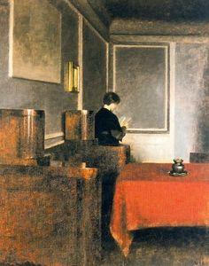 'The Cabinet Sofa' by Vilhelm Hammershøi, 1905.