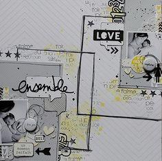 #papercraft #scrapbooking #layout    Love pour scrapidées les 16ième de miniMlescrap! sm