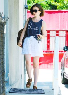 Lily Collins heads to an art gallery in Los Angeles on June 27, 2014