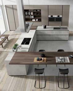 Home Design, Luxury Kitchen Design, Kitchen Room Design, Kitchen Cabinet Design, Luxury Kitchens, Home Decor Kitchen, Modern House Design, Interior Design Kitchen, Home Kitchens
