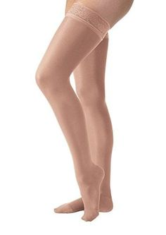 41ac1fe82f1 Jobst UltraSheer Closed Toe Thigh Highs w  Lace Band - 30-40 mmHg Petite Compression  Thigh Highs Petite 119660-P. HosieryPetiteTop ...