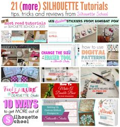 21 Silhouette Tutorials Everyone Should Read! ~ Silhouette School