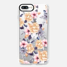 Buy Blush pink purple orange hand painted watercolor floral iPhone Plus Classic Grip Case by Pink Water at Casetify. Cool Phone Cases, Iphone 7 Plus Cases, Iphone 11, Purple Peonies, Pink Purple, Blush Pink, Casetify Iphone 7 Plus, Hotline Bling, Latest Iphone