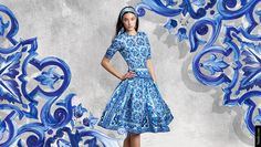 5 Summer cocktail dresses 2015 ideas from Dolce&Gabbana blue majolica collection