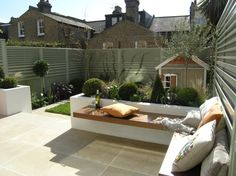 Urban Garden Design South London Suntrap, Design by Living Gardens - Back Garden Design, Modern Garden Design, Contemporary Garden, Landscape Design, Casa Patio, Backyard Patio, Backyard Landscaping, Backyard Ideas, Patio Fence